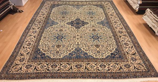 Lyst ægte tæppe 4 x 3 meter fra Nain