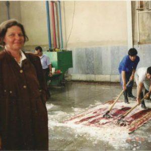 Tæppevask i Iran