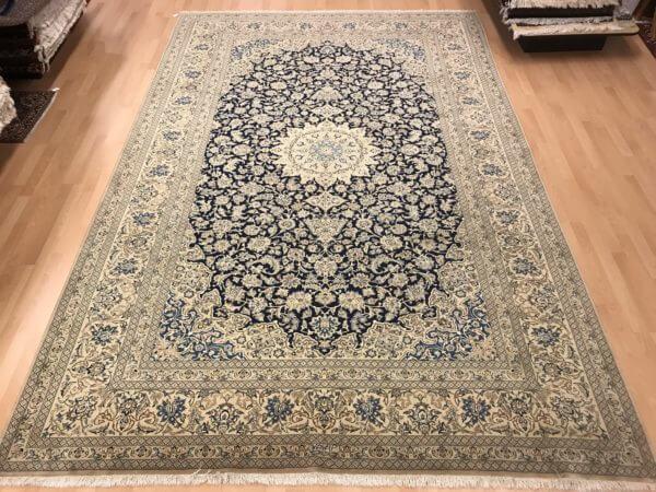 Persisk Nain tæppe med silke