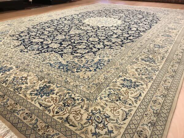 Iransk tæppe Nain med silke