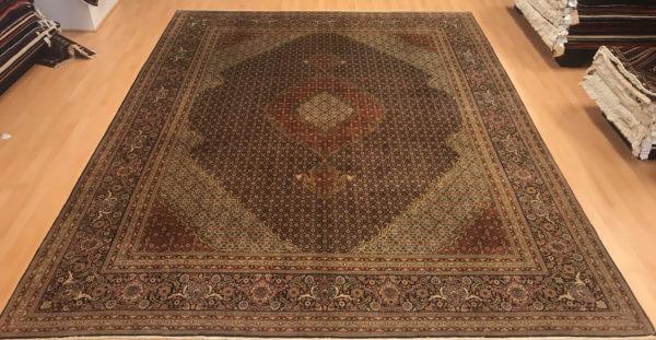 Persisk Tæbriz tæppe ægte tæppe 4 x 3 meter