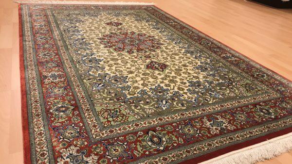 Silketæppe fra Iran meget tæt knyttet